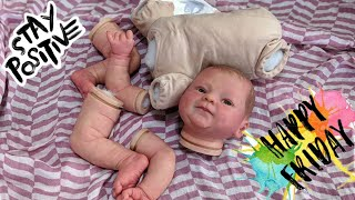 My Newborn Baby can Write! Putting Baby Back Together| Painting Reborn Baby