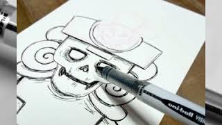 Aprende a dibujar a Mictlantecuhtli | Cómo dibujar como profesional | Tips para aprender a dibujar