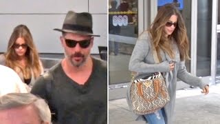 Sofia Vergara And Joe Manganiello Arrive At LAX After Steamy Holiday Vacation In Bora Bora