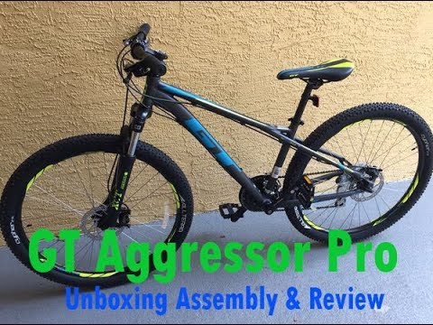 GT Aggressor Pro Mountain Bike unboxing & assembly review  DICKS $349.99