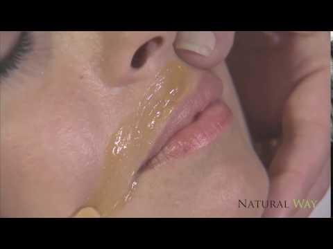 Waxing Upper Lip with Natural Way Pro