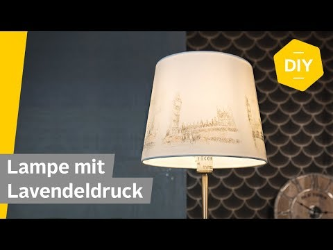 DIY: Lampenschirm mit Lavendeldruck verschönern | Roombeez – powered by OTTO