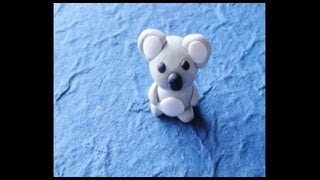 Koala (polymer clay miniature)
