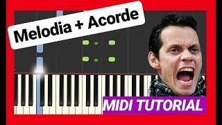 💞Parecen Viernes💞 Marc Anthony🎹 MIDI Tutorial PIANO