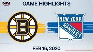 NHL Highlights   Bruins vs Rangers – Feb. 16, 2020