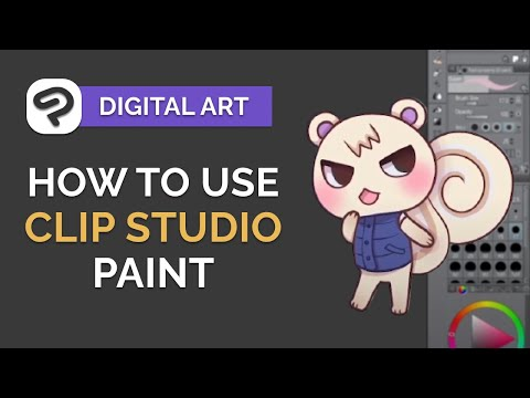 How to Use CLIP STUDIO PAINT - Digital Art Tutorial for BEGINNERS (step by step)