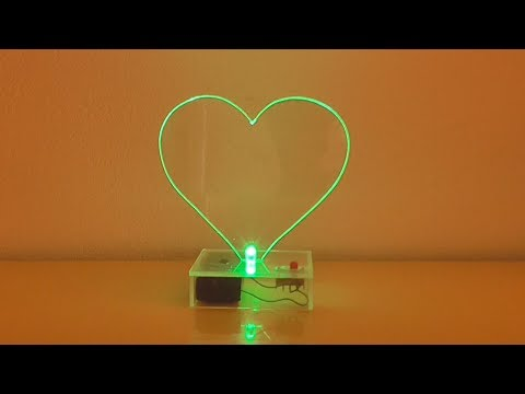 Cómo Hacer Un Corazón Luminoso Casero (muy fácil de hacer)