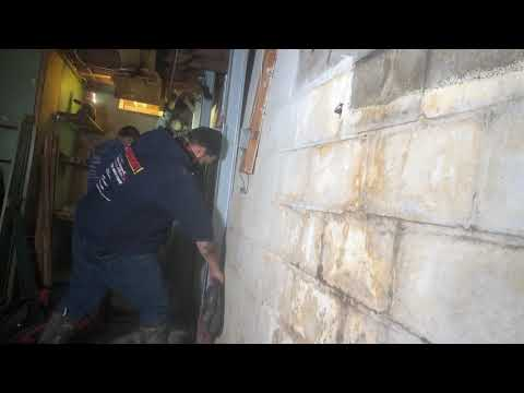 Fixing a Cracked & Bowing Wall in Sheldon, Vermont, by Matt Clark's Northern Basement Systems.