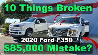 Just Received My 2020 Ford F350 Super Duty. 10 Things Wrong!