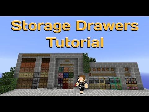 Minecraft Storage Drawers Tutorial