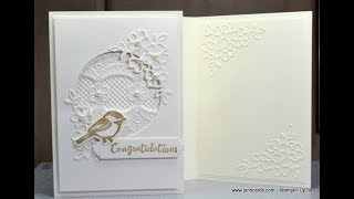 No.480 - Single Colour Anniversary Card - JanB UK #7 Top Stampin' Up! Independent Demonstrator