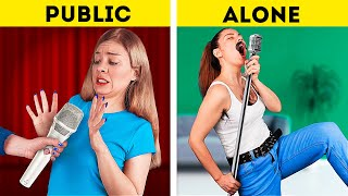 Girls in Public vs Girls Alone / Funny Awkward Moments