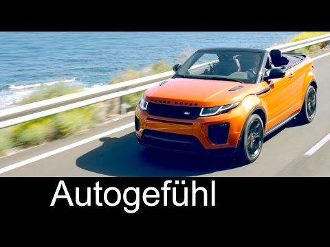 All-new Range Rover Evoque Convertible Cabriolet Preview Design/Technology