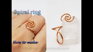 Simple Spiral Ring - How To Make Jewelry From Copper Wire 529