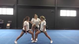 Basic Cheerleading Stunt Progression: Step Lock Drill