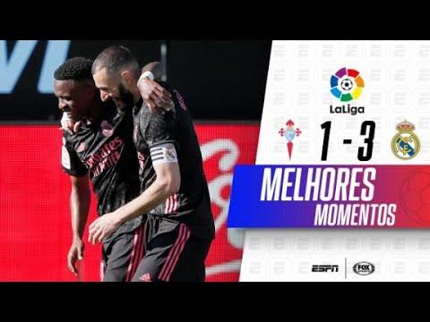 SHOW DE BENZEMA! Melhores momentos de Celta de Vigo 1 x 3 Real Madrid em LaLiga