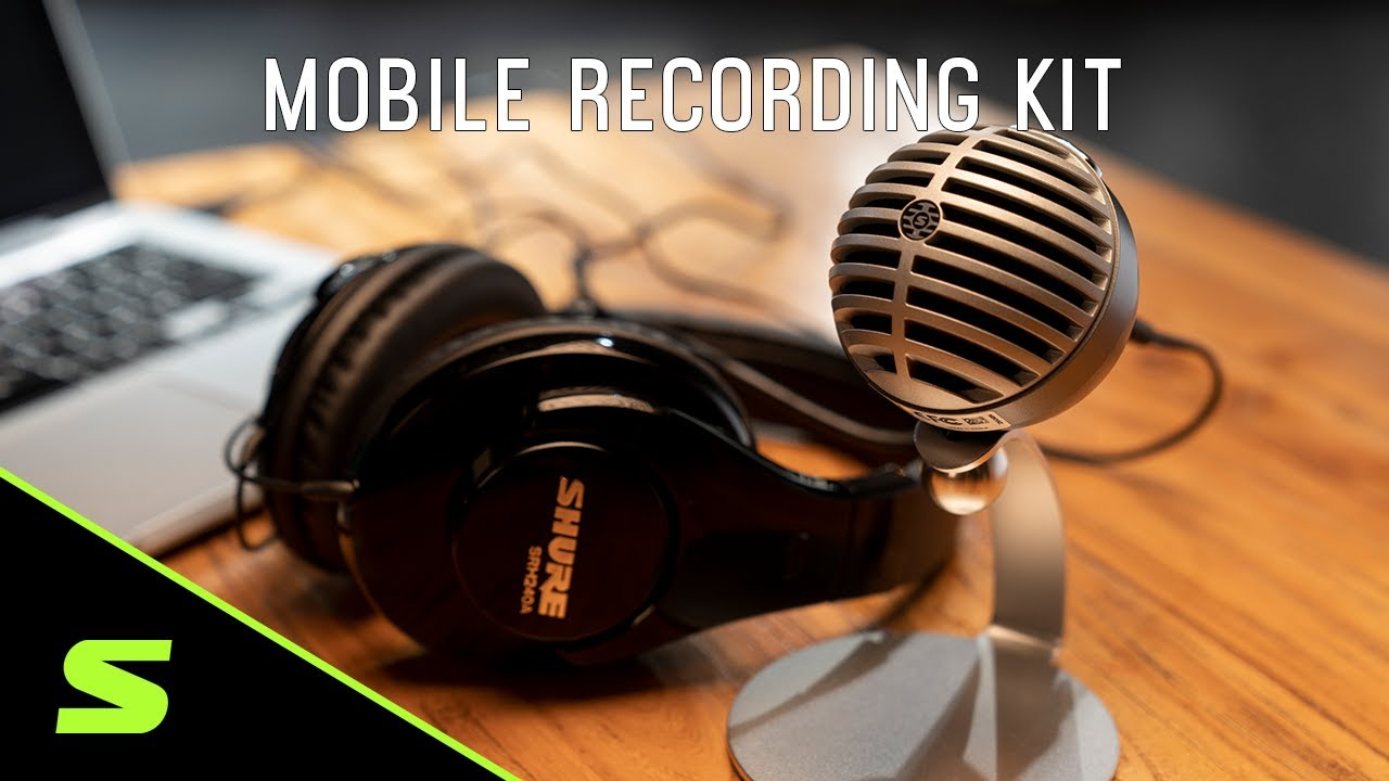 Shure Mobile Recording Kit: MV5 Digital Microphone + SRH240A Headphone