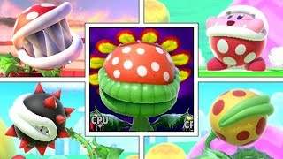 Piranha Plant Full Moveset (Plus Final Smash, Victory Screens, Kirby Hat & More) Smash Bros Ultimate