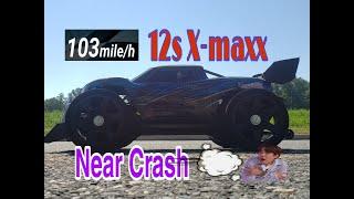X-maxx 12s 103 mph speed-run