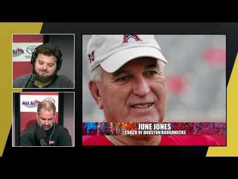 June Jones talks XFL and Houston Roughnecks