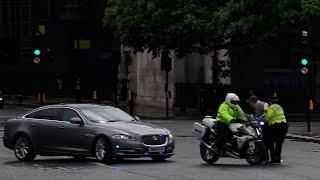 video: Boris Johnson in car crash outside Parliament