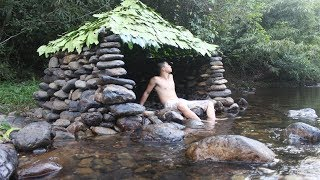 Primitive Technology: Build a Stone Hut on the Stream | Kholo.pk