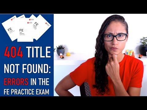 FE Practice Exam Mistakes - YouTube