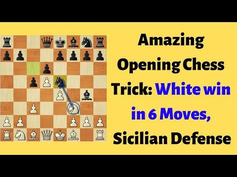 Amazing Opening Chess Trick to Win in 6 Moves - Sicilian Defense (Alapin Variation)