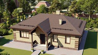 Проект дома 106-B, Площадь дома: 106 м2, Размер дома:  12,6x10,7 м