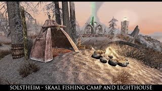 Skyrim SE Mods: Solstheim - Skaal Fishing Camp and Lighthouse by FadingSignal