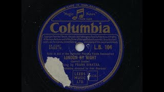 Frank Sinatra 'London By Night' 1951 78 rpm