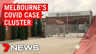 Coronavirus: New COVID-19 cases emerge at Melbourne abattoir and school | 7NEWS