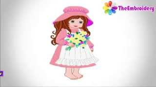Girl Embroidery Design   Download Free Embroidery Designs