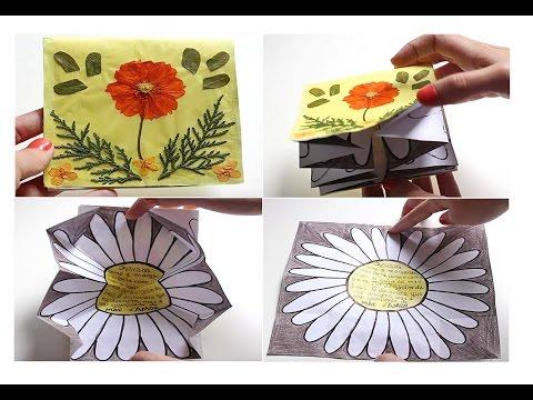 Cartão Surpresa com Flores