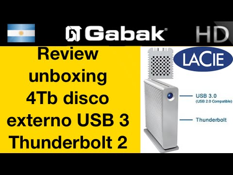 Disco rigido externo veloz para edición de video (thunderbolt 2 y usb3)