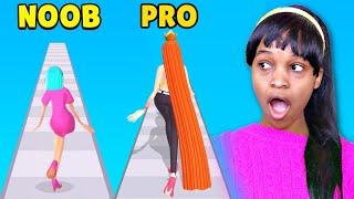 NOOB vs PRO vs HACKER in Hair Challenge App