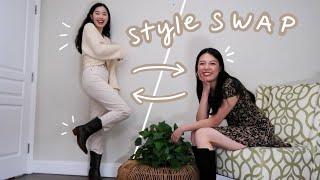 KOREAN FASHION STYLE SWAP With Hana Lee! Aka Hana Gets Me Out Of My Comfort Zone