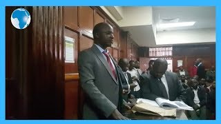 Chief Inspector Peter Maina testifies in regard to a letter claiming