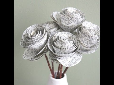 Creative Recycled NewsPaper Art Craft Design Collection