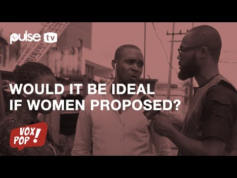 Vox Pop: Would it be ideal if women proposed to men?