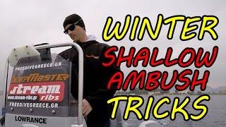 WINTER Shallow Ambush TRICKS - Χειμερινό ρηχό καρτέρι !
