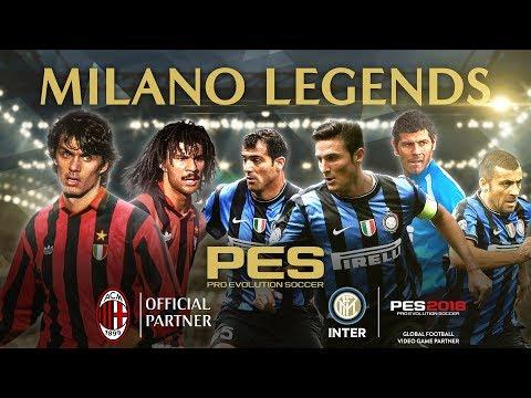 PES 2018: Scendono in campo le vecchie glorie di Milan e Inter