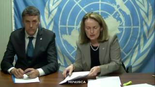 Diane Corner (MINUSCA) on the situation in the Central African Republic - Press Conference