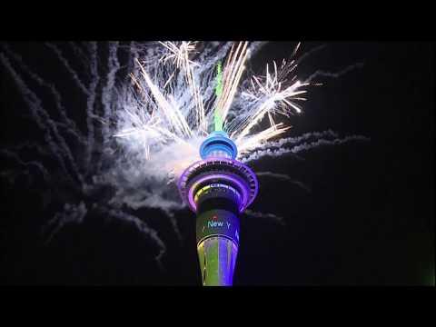 Nueva Zelanda recibió al Año Nuevo con fuegos artificiales en Auckland