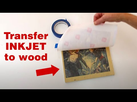 Transfer Inkjet-Printed Images To Wood With Almost No Extra Tools