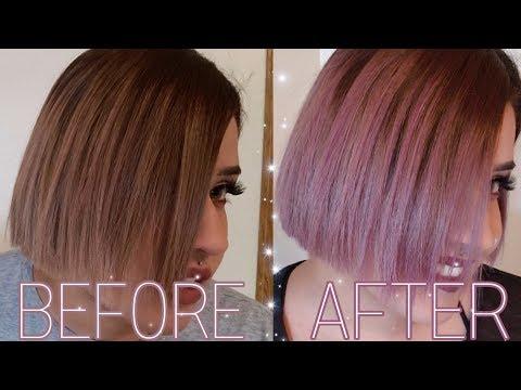 Lavender hair dye (Arctic fox Girls Night) on dark blonde hair