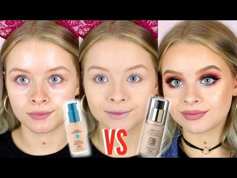 ONE OF THE BEST DRUGSTORE FOUNDATIONS!? COVERGIRL VS MAX FACTOR | sophdoesnails