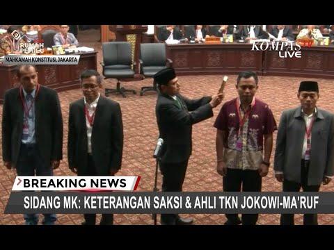 Tim Jokowi-Ma'ruf Hadirkan 2 Saksi dan 2 Ahli di Sidang MK