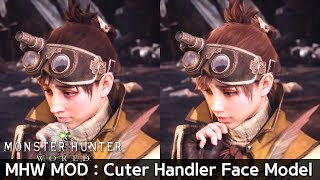 MHW MOD-Cuter Handler Face Model Original vs Mod Comparison