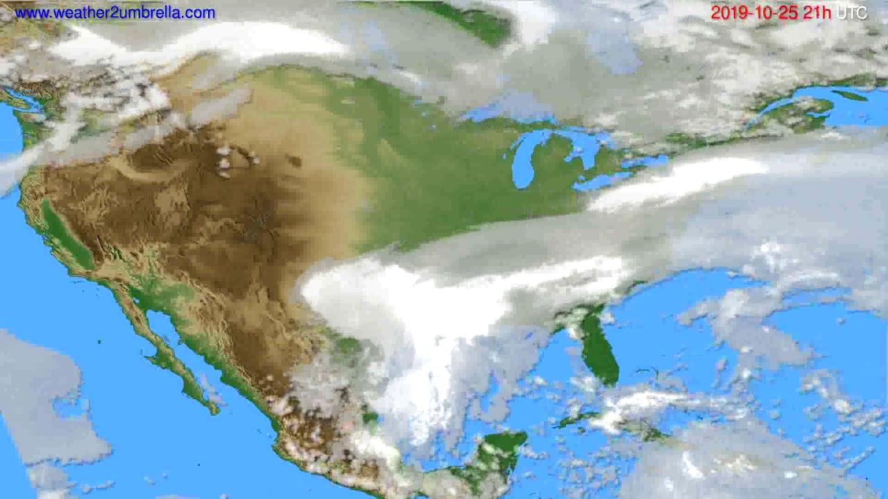 Cloud forecast USA & Canada // modelrun: 00h UTC 2019-10-24
